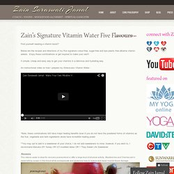 Zain's Signature Vitamin Water Five Flavours