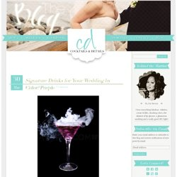 Signature Drinks for Your Wedding by Color: Purple | Cocktails & Details: The Wedding Planners' Fabulous Blog