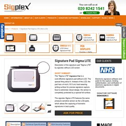 Digital Signature Capture Device