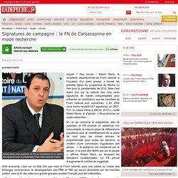 Signatures de campagne : le FN de Carcassonne en mode recherche - Aude - Littoral