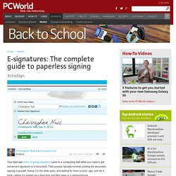 E-signatures: The complete guide to paperless signing