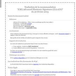 Les signatures électroniques évoluées XML (XAdES)