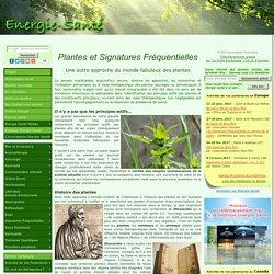 Plantes et Signatures Fréquentielles