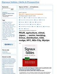 Signaux de Peur ......et d'optimisme . - Signaux faibles | Veille & Prospective