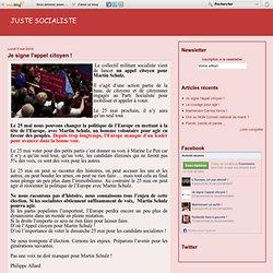 Je signe l'appel citoyen ! - Le blog de Philippe Allard