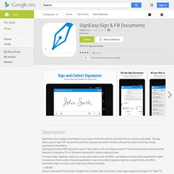 SignEasy:Sign & Fill Documents – Applications Android sur Google Play