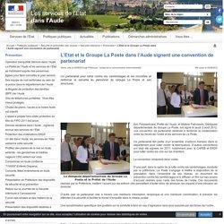 L'Etat et le Groupe La Poste dans l'Aude signent une convention de partenariat