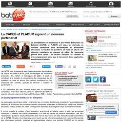 La CAPEB et PLADUR signent un nouveau partenariat - 03/11/16