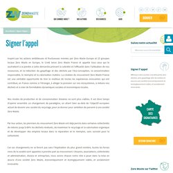 Signer l'appel Zero Waste France