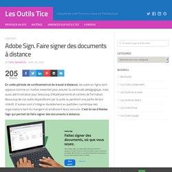 Adobe Sign. Faire signer des documents à distance