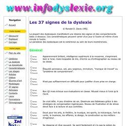 Les 37 signes de la dyslexie selon Ron Davis