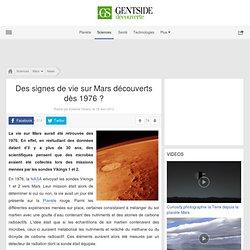 Des signes de vie sur Mars découverts dès 1976 ?