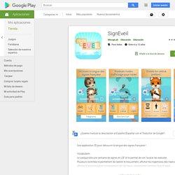 SignEveil – Applications sur GooglePlay