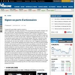 Signez un pacte d'actionnaires