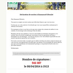 Signez la pétition soutenons E.Giboulot