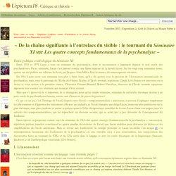 De la chaîne signifiante à l'entrelacs du visible : le Séminaire XI de Lacan - Utpictura18 Critique et théorie