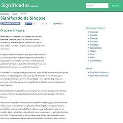 Significado de Sinopse - O que é, Conceito e Definição