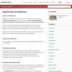 Significado de Software
