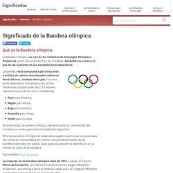 Significado de la Bandera olímpica - Qué es la, Concepto y Definición