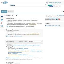 Desempeño - significado de desempeño diccionario