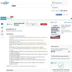 Escritura - significado de escritura diccionario