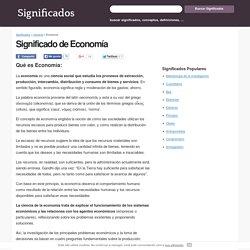 Significado de Economía