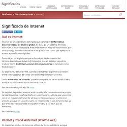 Significado de Internet