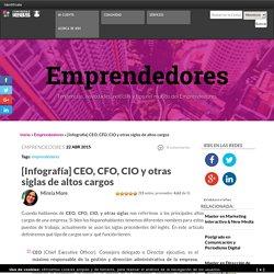 ¿Qué significan las siglas CEO, CFO, CIO y CTO? [Infografía]