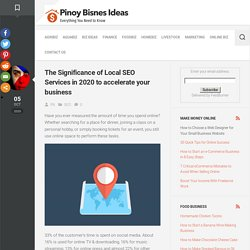 The Significance Of Local SEO Services In 2020 To Accelerate Your Business