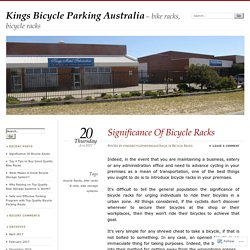 Kings Bicycle Parking Australia