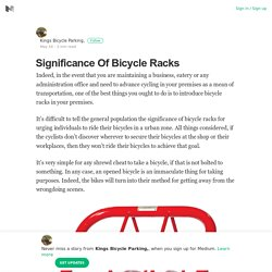 Significance Of Bicycle Racks