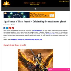 Significance of Shani Jayanti - Celebrating the most feared planet
