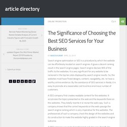 The Significance of Choosing the Best SEO Services for Your Business