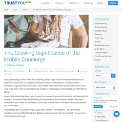 The Growing Significance of the Mobile Concierge · TrustYou