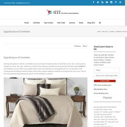 Significance of Coverlets - Izzz Blog