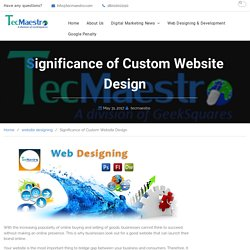 Get Custom Websites to Give Your Business an Edge Over Competition