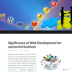 Significance of Web Development for successful business