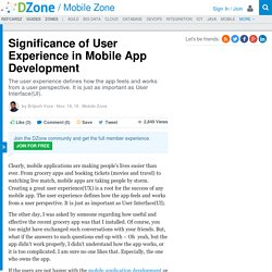 Significance of User Experience in Mobile App Development