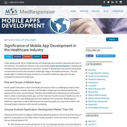 Significance of Mobile App Development in the Healthcare Industry