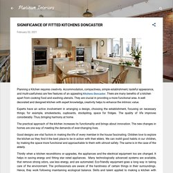 SIGNIFICANCE OF FITTED KITCHENS DONCASTER