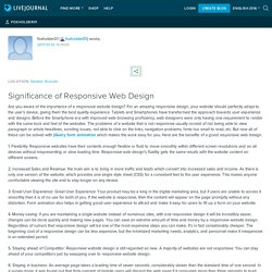 Significance of Responsive Web Design: foxholder01