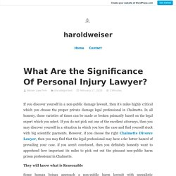 What Are the Significance Of Personal Injury Lawyer?