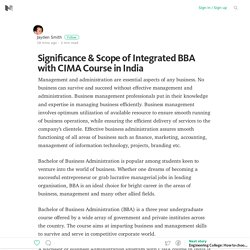 Significance & Scope of Integrated BBA with CIMA Course in India – Medium
