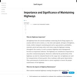Importance and Significance of Maintaining Highways