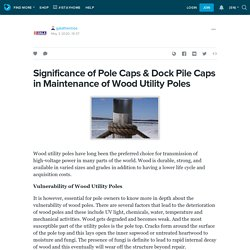 Significance of Pole Caps & Dock Pile Caps in Maintenance of Wood Utility Poles: galathermos — LiveJournal