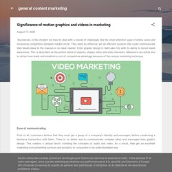 Significance of motion graphics and videos in marketing