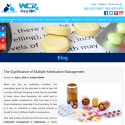 The Significance of Multiple Medication Management