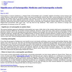Significance of Naturopathic Medicine and Naturopathy schools