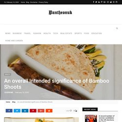 An overall intended significance of Bamboo Shoots