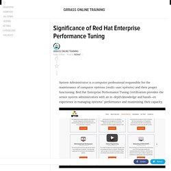 Significance of Red Hat Enterprise Performance Tuning